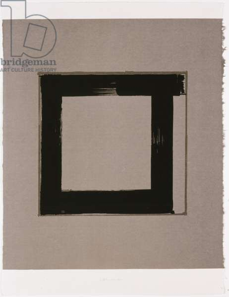 Untitled I, 1983 (screenprint on Japanese handmade paper)