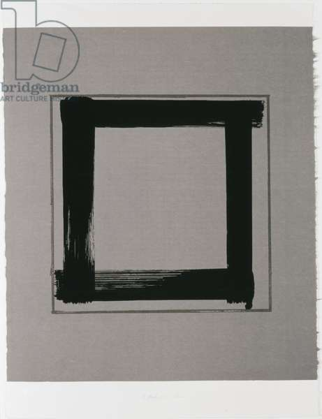 Untitled II, 1983 (screenprint on Japanese handmade paper)