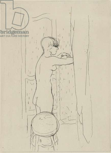 La Toilette (The Bath), 1927 (drypoint on wove paper)