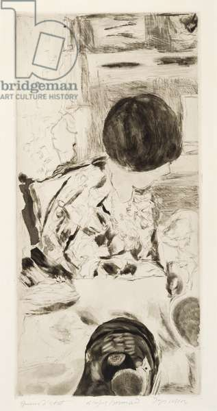 Woman with Dog, after Pierre Bonnard, 1942-46 (aquatint & roulette)