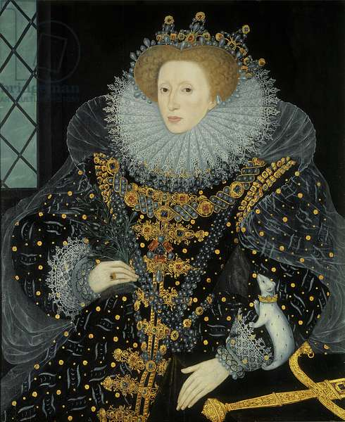 Queen Elizabeth I, 'The Ermine Portrait', 1585 (oil on panel)