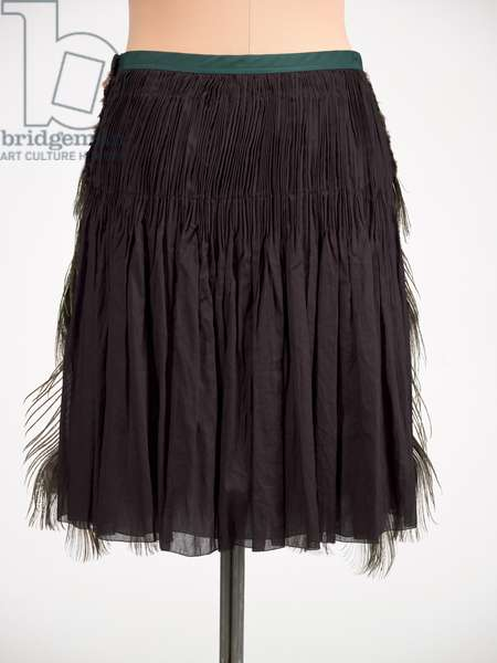 Skirt, Prada, Spring/Summer 2005 (cotton, peacock feathers)