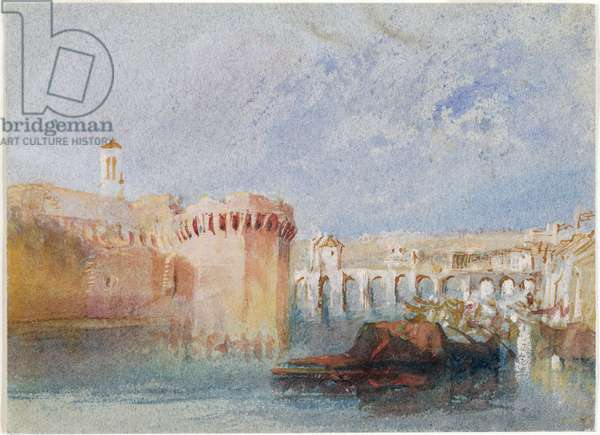 Angers, 1826-28 (w/c & gouache on blue paper)