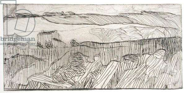 Striped Landscape, 1893 (etching)
