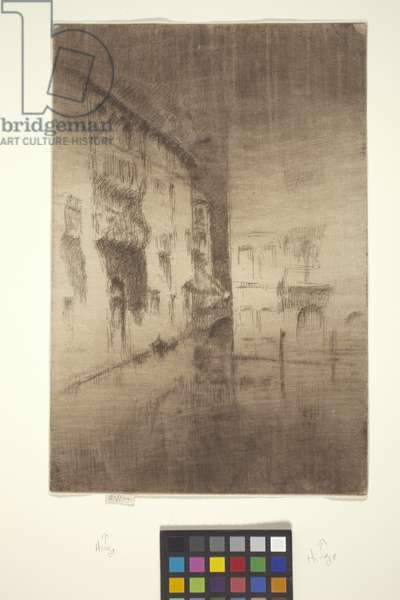 Nocturne: Palaces (etching with hand-wiping)