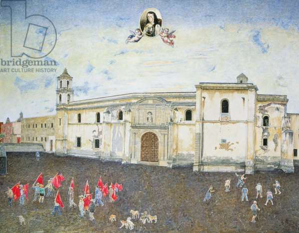 Political Protest, the Cloister of Sor Juana de la Cruz (1648-95) 2001 (oil on canvas)