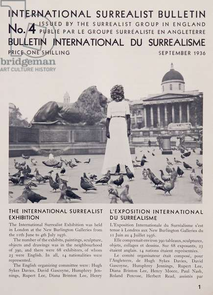 Front page of the 'International Surrealist Bulletin' no. 4, September 1936 (litho)