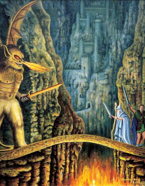 The Bridge of Khazad-Dum, 1998 (oil on canvas)