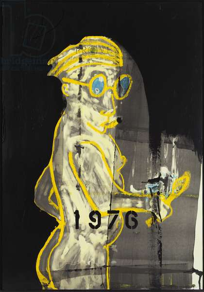 1976, 2012 (mixed media on w/c paper mounted on panel with recipe on verso)
