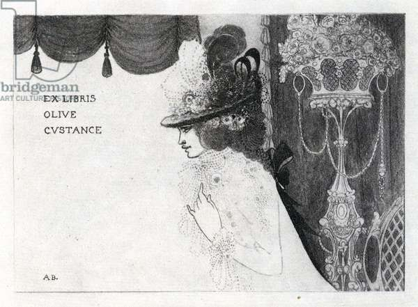 Design for a book-plate for Olive Custance (photogravure)