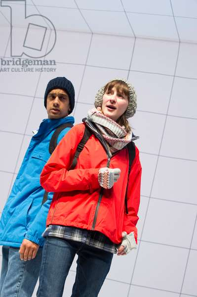Laura Elphinstone and Amit Shah in Children from Love And Information by Caryl Churchill at Royal Court. Directed by James Macdonald. (Opening 14-09-12) (photo)