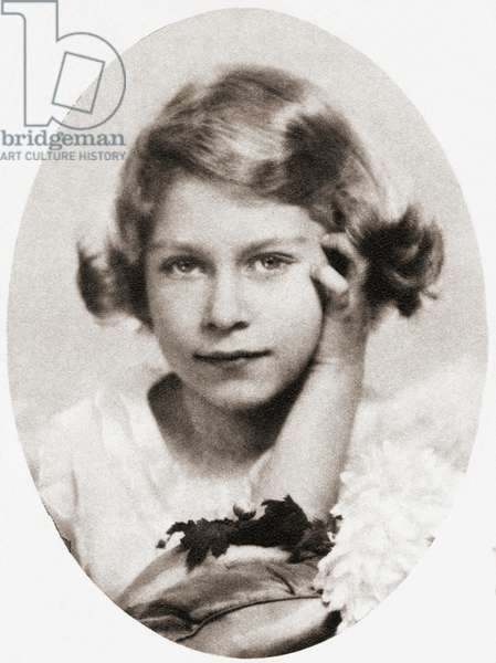 Princess Elizabeth, future Queen Elizabeth II, seen here aged nine
