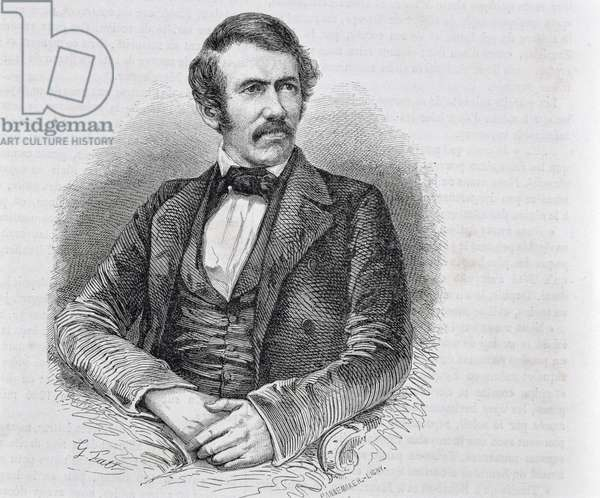 David Livingstone (1813-1873) engraved by S. Pannemaker (engraving)