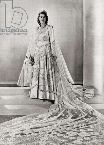 Princess Elizabeth, future Queen Elizabeth II, from a photograph taken in 1947.