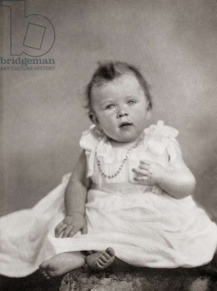 Princess Elizabeth, future Queen Elizabeth II, at eight months old, December, 1926