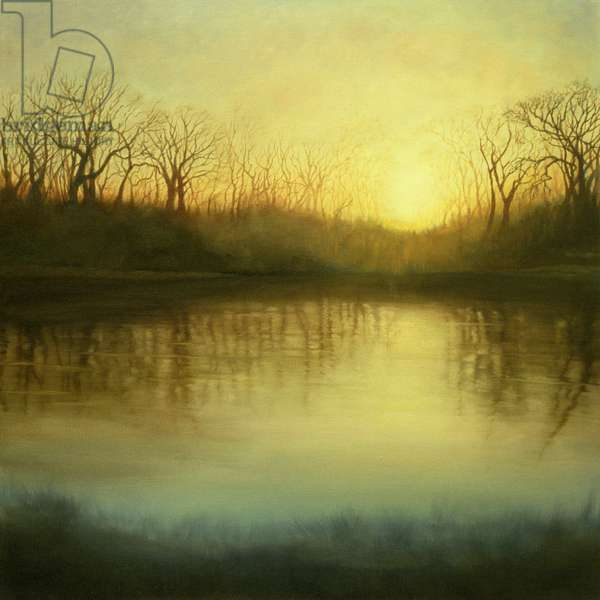 Timeless, 2002 (oil on canvas) River reflections