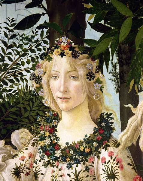 Flora, detail from the Primavera, c.1478 (tempera on panel)