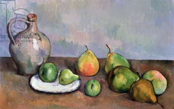 Still Life with Pitcher and Fruit, 1885-87 (oil on canvas)