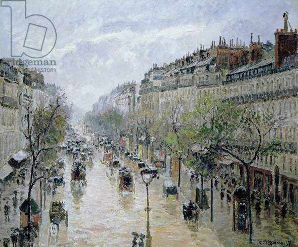 Boulevard Montmartre, 1897 (oil on canvas)