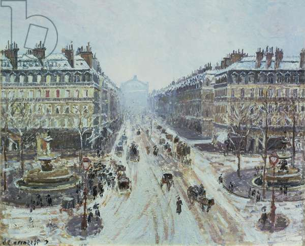 Avenue de l'Opera - Effect of Snow, 1898 (oil on canvas)