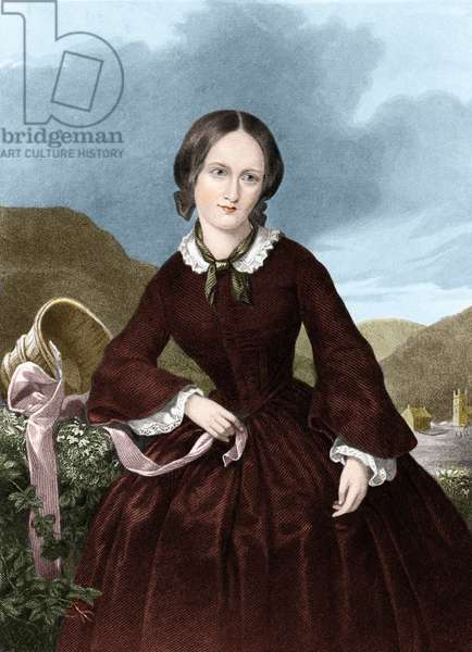 Charlotte Bronte (colour litho)