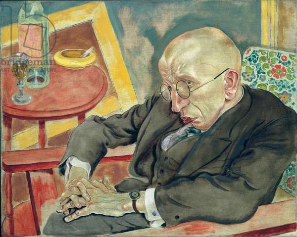 Portrait of the poet Max Hermann Neisse, 1927 (oil on canvas)