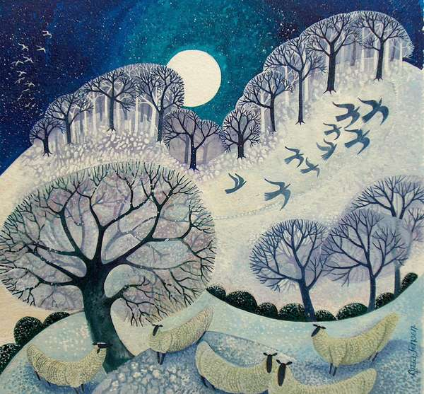 Winter Woolies (acrylic ink)
