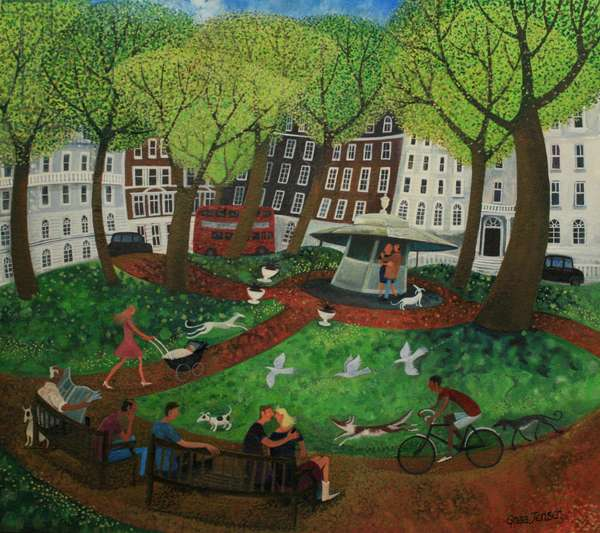Berkeley Square, 2013 (acrylic ink and gouache on canvas)