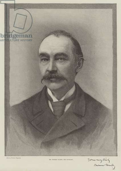 Mr Thomas Hardy, the Novelist (engraving)