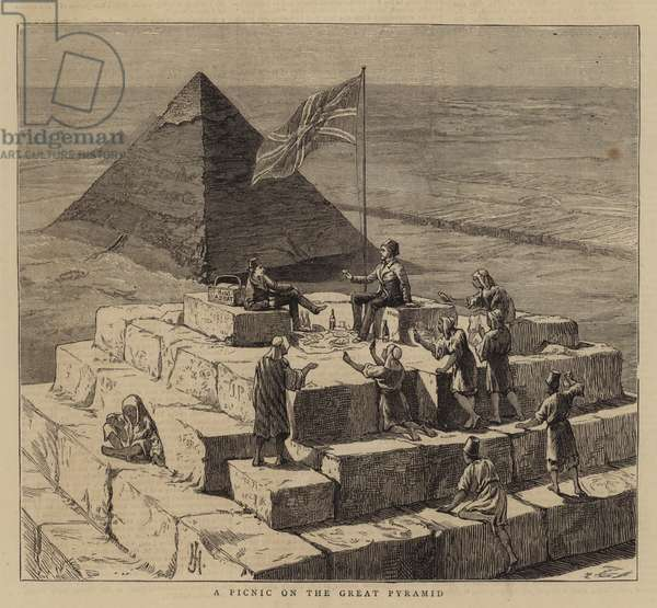 A Picnic on the Great Pyramid (engraving)