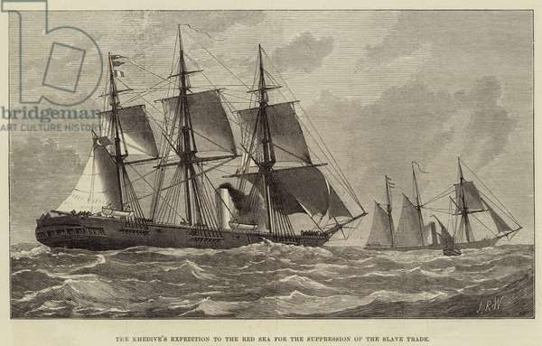 The Khedive's Expedition to the Red Sea for the Suppression of the Slave Trade (engraving)