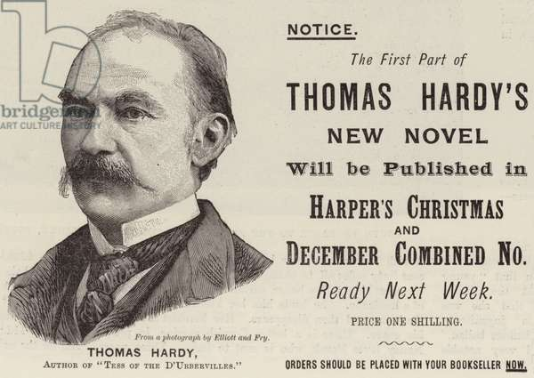 Advertisement, Thomas Hardy (engraving)