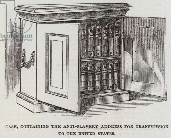 Case, containing the Anti-Slavery Address for Transmission to the United States (engraving)