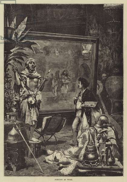 Fortuny at Work (engraving)