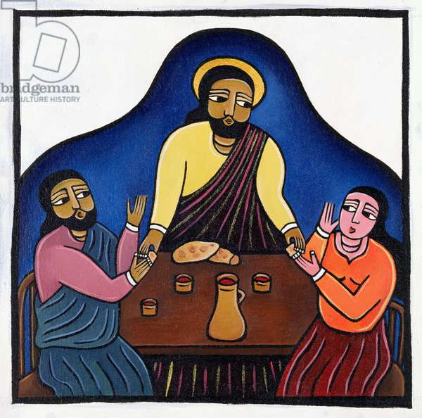 Supper at Emmaus (acrylic on canvas)