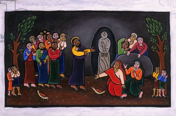 The Raising of Lazarus (acrylic on canvas)