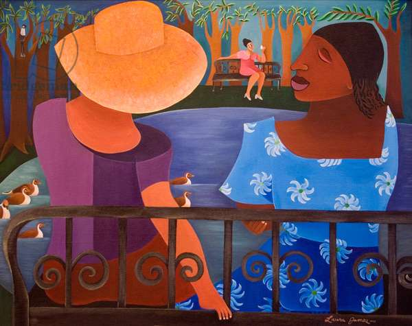 Women by the Lake, 1998 (acrylic on canvas)