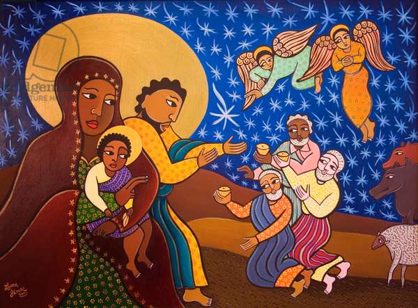 The Holy Family at Nativity, 2007 (acrylic on canvas)