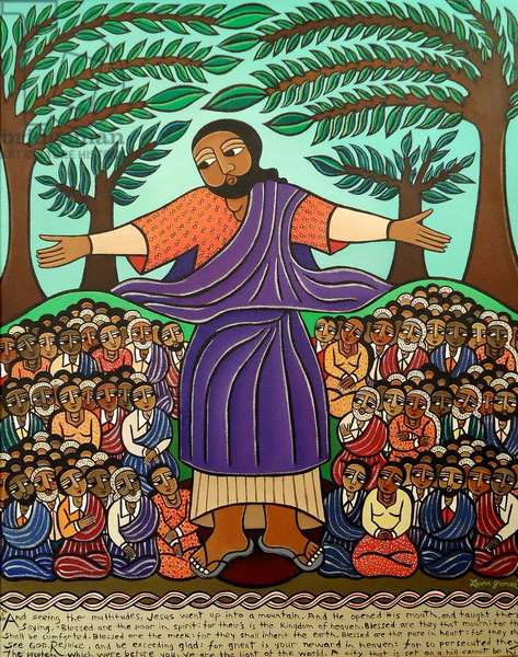 Sermon on the Mount, 2010 (acrylic on canvas)