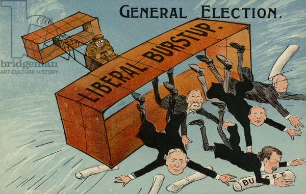 General Election. Liberal Burstup (colour litho)