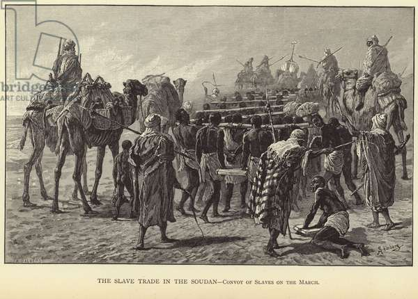 The Slave Trade in the Soudan (engraving)