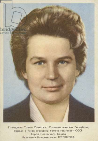 Valentina Tereshkova, Russian cosmonaut (colour photo)