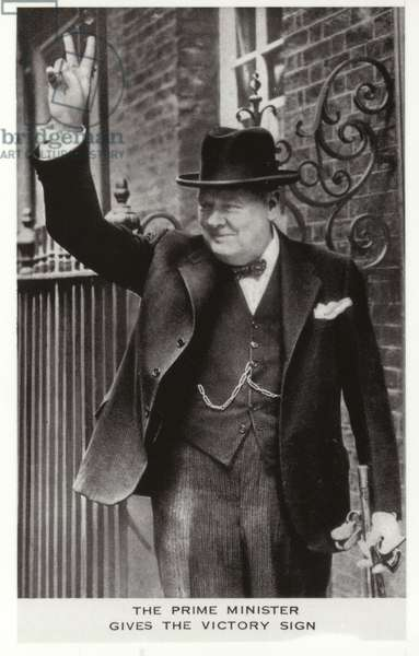 Winston Churchill (b/w photo)