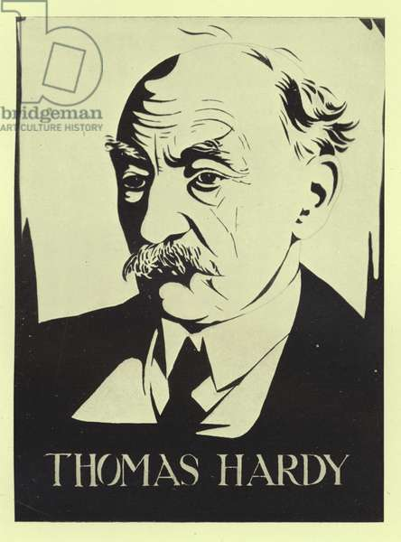 Thomas Hardy, English novelist and poet (litho)