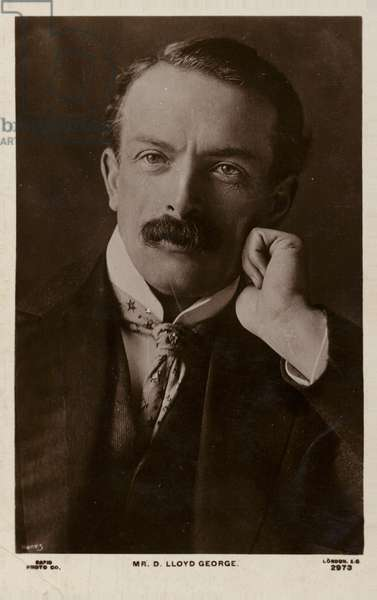 David Lloyd George (b/w photo)