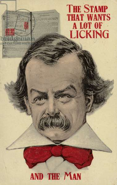 Caricature of David Lloyd George (colour litho)