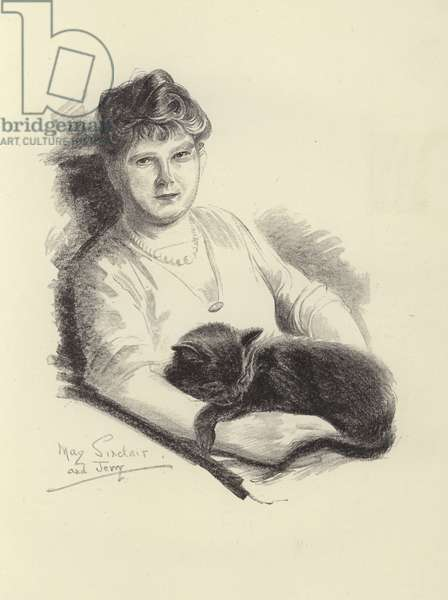 May Sinclair, English writer and suffragist (litho)
