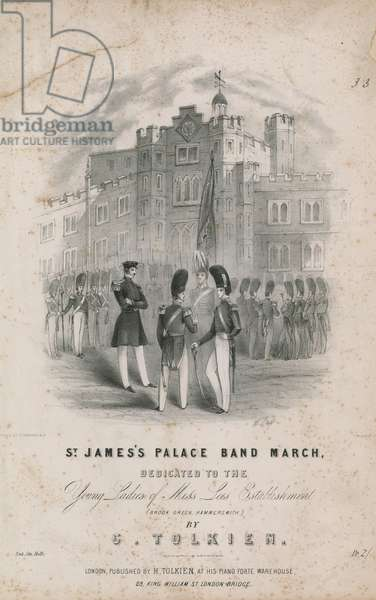 Musical score for St James's Palace Band March (engraving)