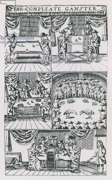 Illustrations from The Compleat Gamster (engraving)