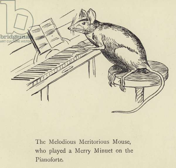 The Melodious Meritorious Mouse (engraving)